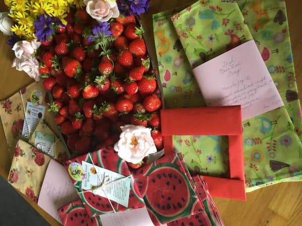 beeswax wraps and bags from ireland