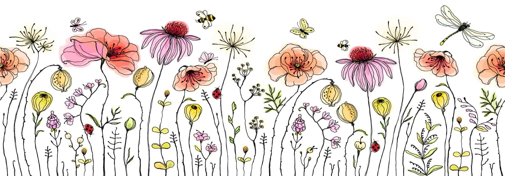 love bee flowers