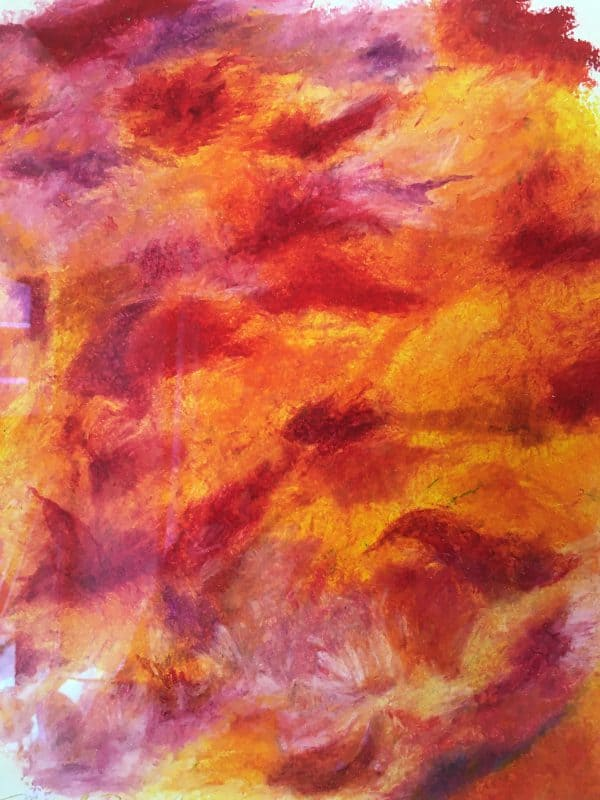 Ornage Sky art by Marcela Joy