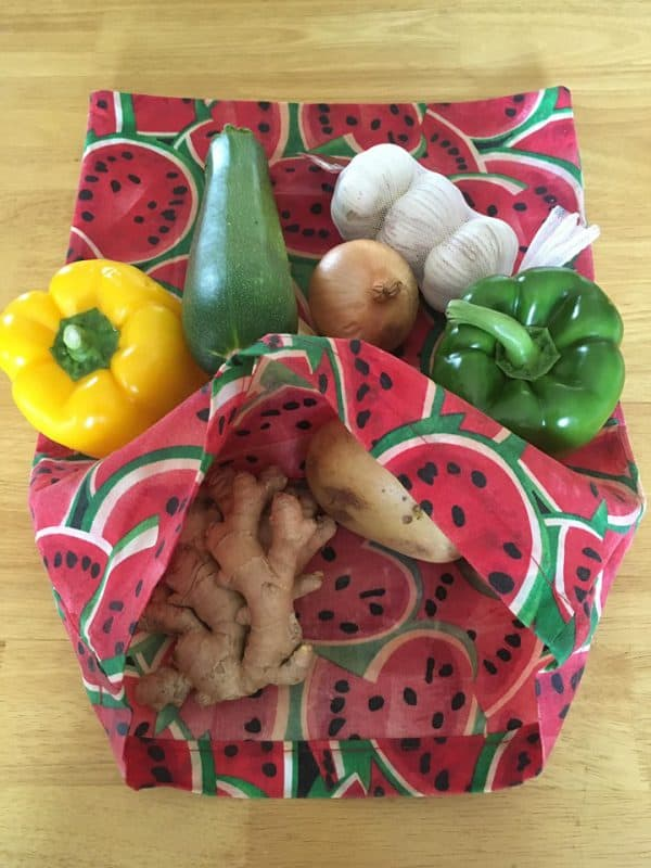 watermelon beeswax wraps and bags from ireland
