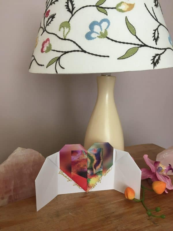 hearts cards art by Marcela Joy