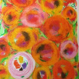 Oranges art by Marcela Joy