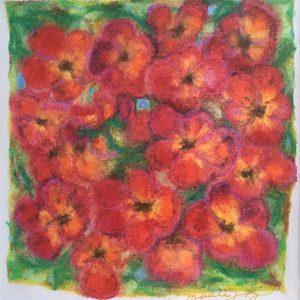 Pansies art by Marcela Joy
