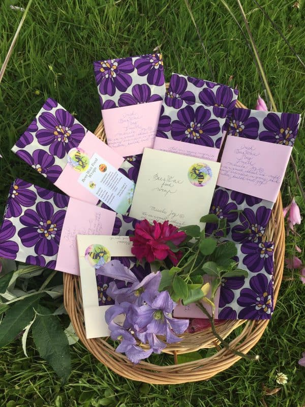purple beauty beeswax wraps and bags from ireland
