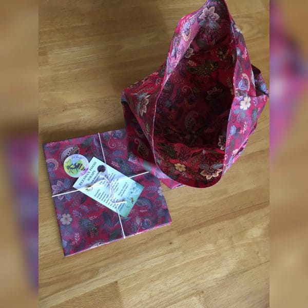 strawberry beeswax wraps and bags from ireland