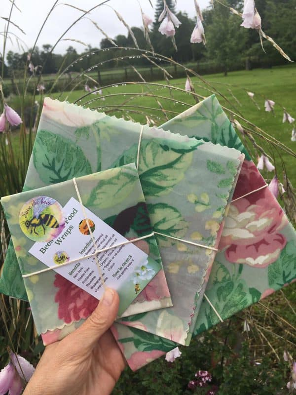 vintage beeswax wraps and bags from ireland
